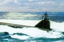 Nuclear submarine of design 645 (Nuclear submarine К-27)